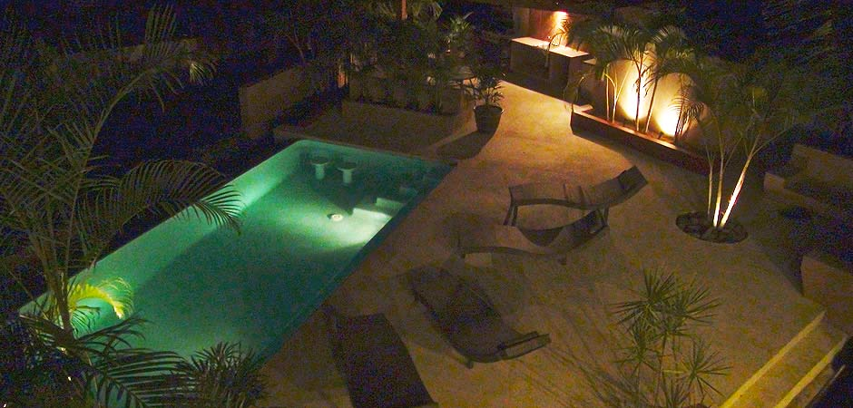 Vista Celeste Pool at Night